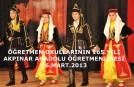 ÖĞRETMEN OKULLARININ 165.YILI-AKPINAR 16.03.2013