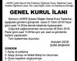 SAMSUN ŞUBESİ GENEL KURUL İLANI