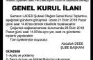 LADER SAMSUN ŞUBESİ GENEL KURULU YAPILDI 28.10.2018