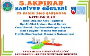 5.AKPINAR KARİYER GÜNÜ 25.11.2015