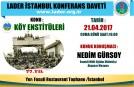 KÖY ENSTİTÜLERİ KONFERANSI 21.04.2017