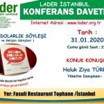 Haluk Ziya Türkmen31.01.2020 söyleşi